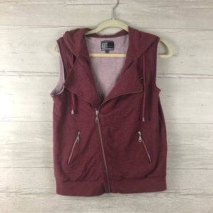 Kut From The Kloth Moto Vest Hoodie Size Small